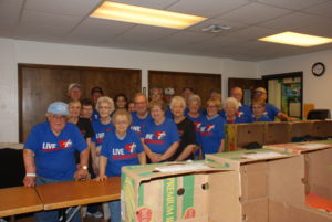 Volunteers at the Orphan Grain Train Packing Party!