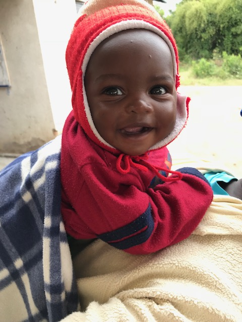 small african child laughing